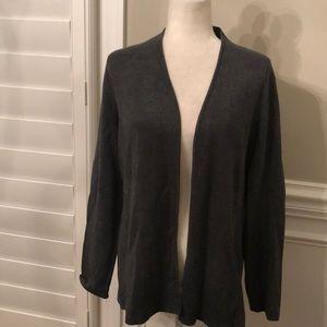 Talbots grey knit cardigan